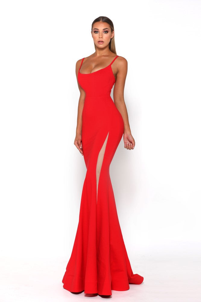 Portia and Scarlett Indira Red long sexy bodycon prom dress