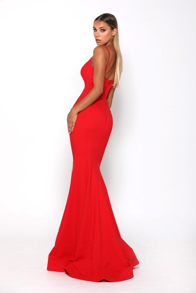 Portia and Scarlett Indira Red long sexy bodycon formal dress