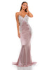 portia and scarlett valentine blush pink lace scalloped edge prom dress from shaide boutique uk