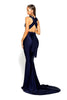 portia and scarlett lilianna ps6110 wrap dress empire bust bodycon prom dress with mermaid train at shaide boutique uk back