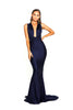portia and scarlett lilianna ps6110 wrap dress empire bust bodycon prom dress with mermaid train at shaide boutique uk