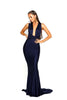 portia and scarlett lilianna ps6110 wrap dress empire bust bodycon prom dress with mermaid train at shaide boutique uk front