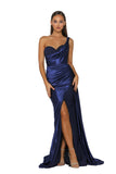 Portia & Scarlett SANTORINI PS5021 - Navy Blue black tie evening gown at shaide boutique uk