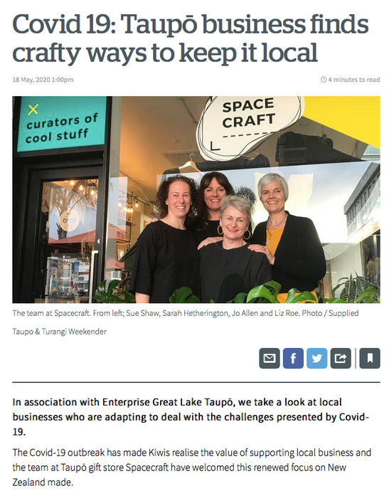 Covid 19: Taupō business finds crafty ways to keep it local