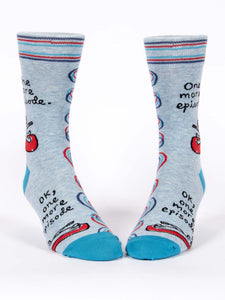 Womens Crew Socks - One More Episode