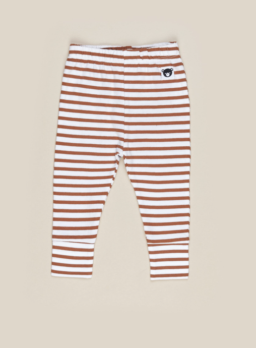 Baby Terracotta Stripe Leggings