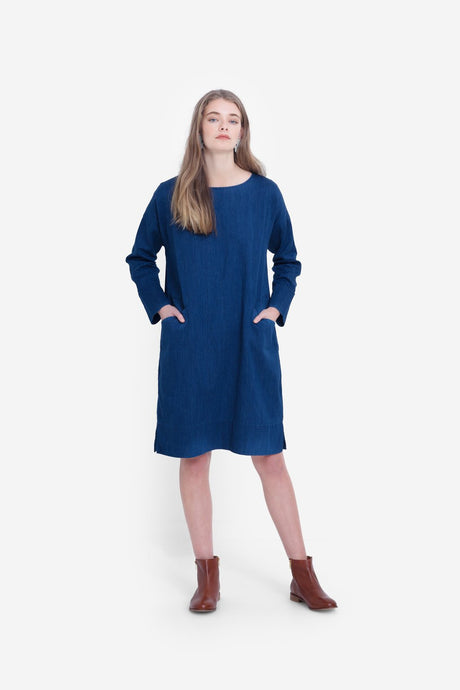 Elk Karrie Dress - Indigo Blue