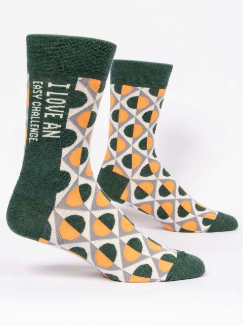 Mens Socks - Love An Easy Challenge