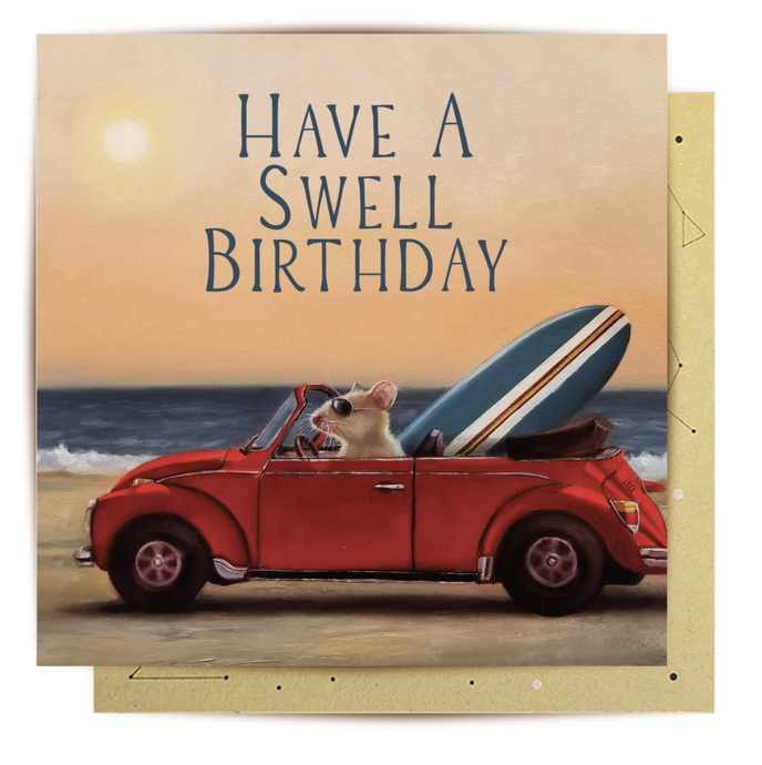 Swell Birthday Mouse Mini Card