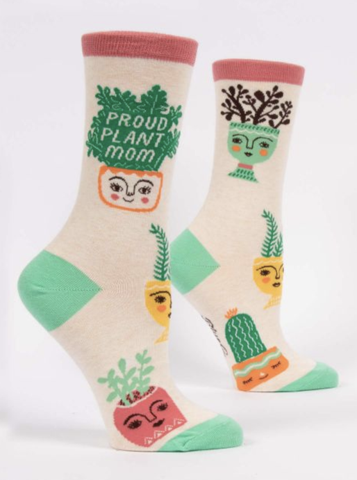 Womens Crew Socks - Proud Plant Mom