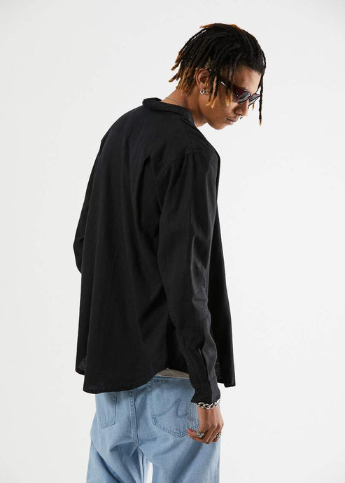 Standard Hemp Long sleeve shirt - black