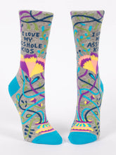 Load image into Gallery viewer, Womens Crew Socks - Love My Asshole Kids