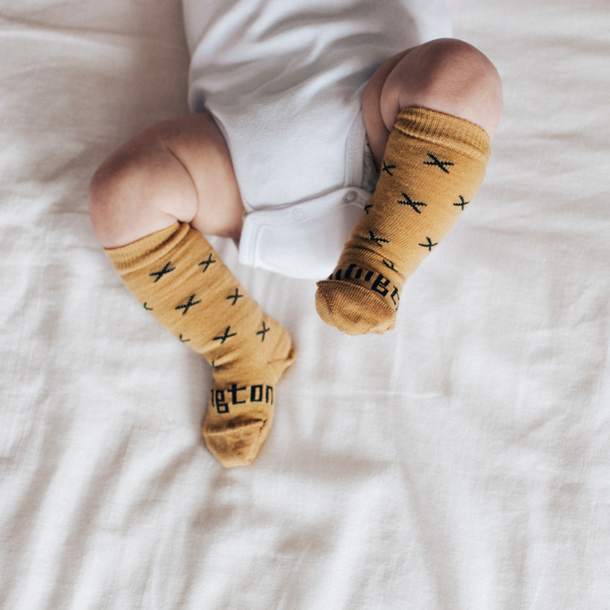 Lamington Knee High Baby Socks - New Born