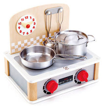 Load image into Gallery viewer, Hape 2 in 1 Kitchen & Grill Set