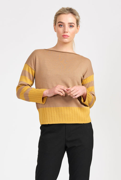 Organic Merino Sedgewick Jumper - Honey & Eden