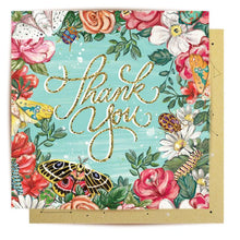 Load image into Gallery viewer, Thank You Bugs N Roses Mini Card