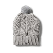 Load image into Gallery viewer, W+F Knitted hat - Glacier Grey Fleck