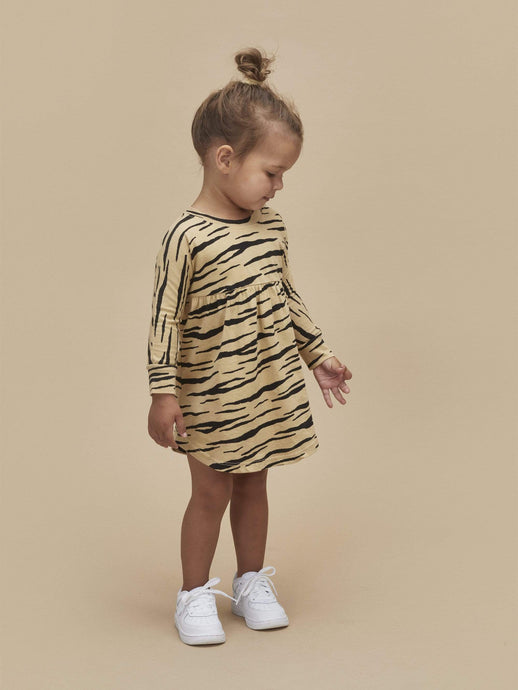 Kids Wild Cat Long Sleeve Dress