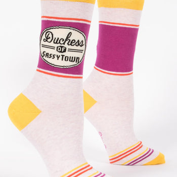 Womens Crew Socks - Duchess of Sassy Town
