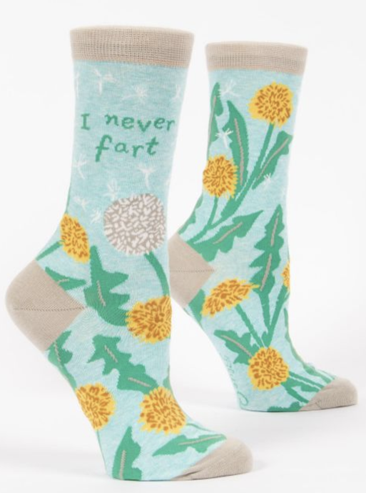 Womens Crew Socks - I Never Fart