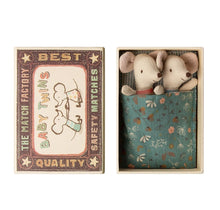 Load image into Gallery viewer, Maileg Baby Mouse Twins in Box