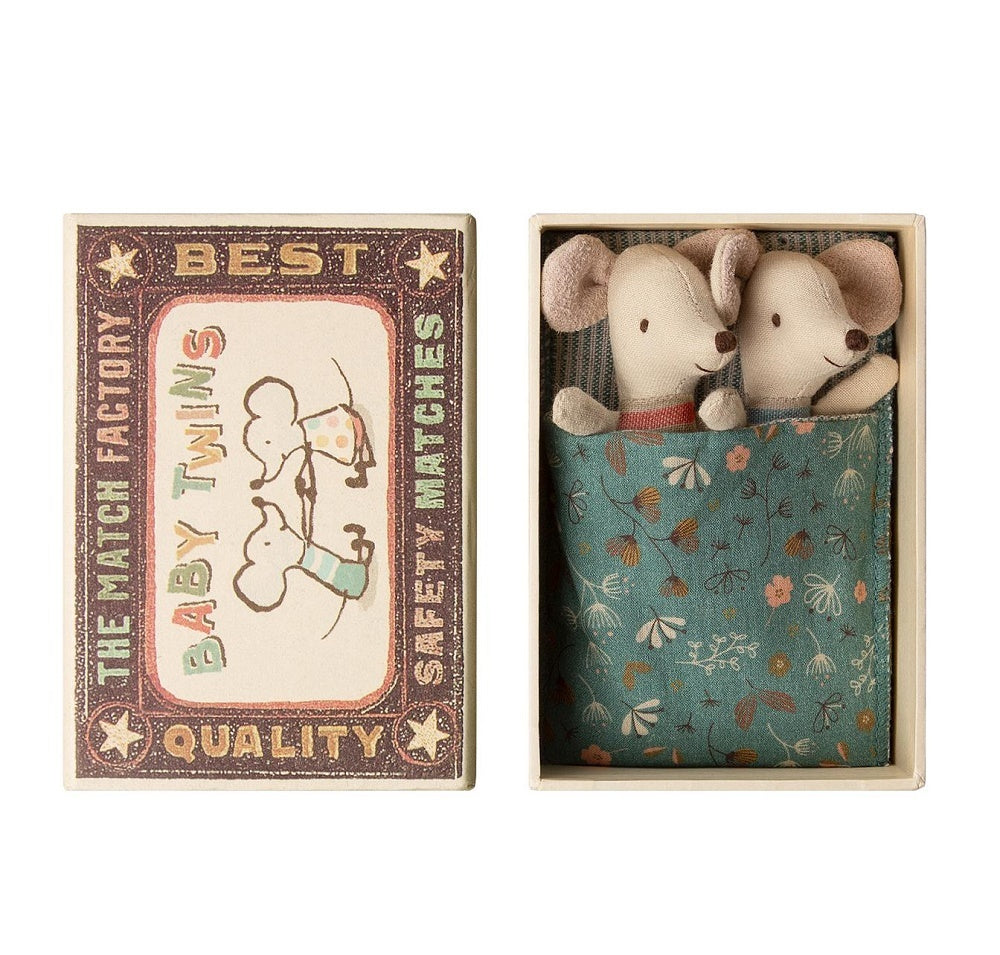 Maileg Baby Mouse Twins in Box