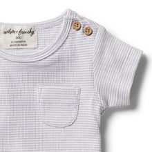 Load image into Gallery viewer, Organic Stripe Tee - Lavender Ecru