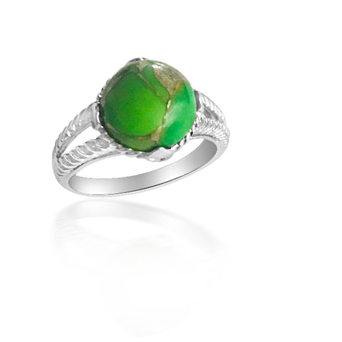 Stunning green turquoise ring