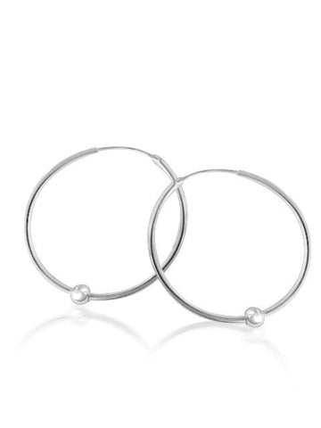 Hoop & ball earrings