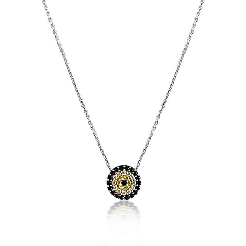Sparkly evil eye necklace