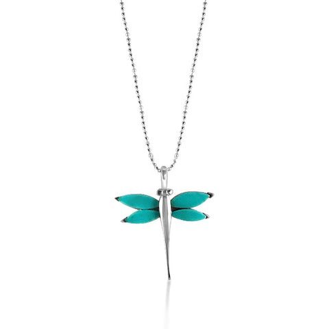 Torquoise dragon fly necklace