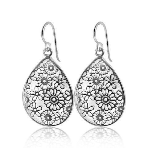 Flowery sterling silver earrings