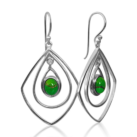 Luna Green earrings