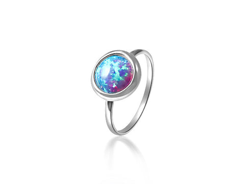 Opalite sterling silver ring