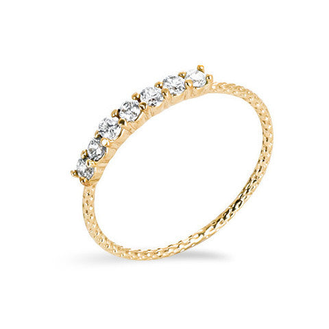 14 carat gold filled cubic zirconia stackable ring
