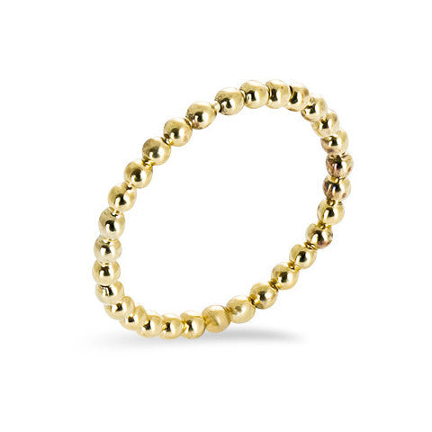 14 carat gold filled balls stackable ring