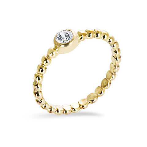 14 carat gold filled balls cubic zirconia stackable ring