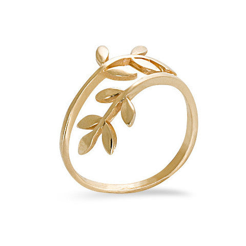 14 carat gold filled leaf ring