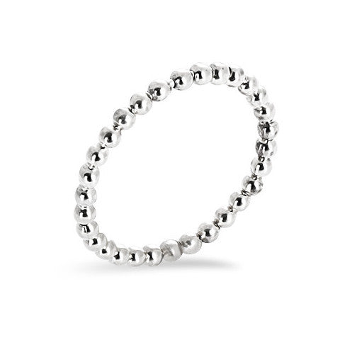Sterling silver balls stackable ring
