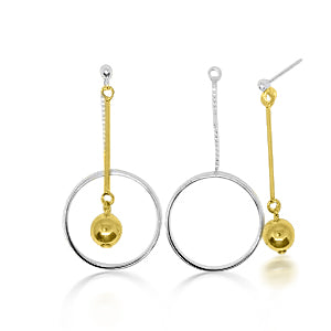Stephanie large drop circle earrings
