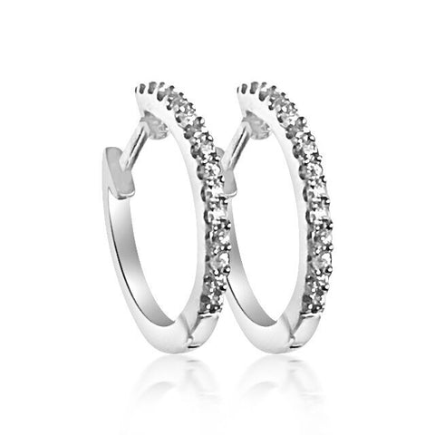 Beautiful Sparkling 18ct White Gold Diamond earrings