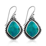 Knotted turquoise earring
