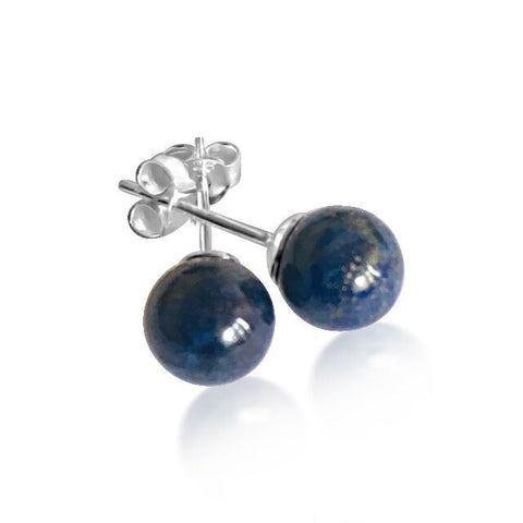 Lapiz ball stud earrings