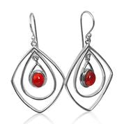 Stunning red coral earrings