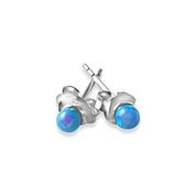 Pop of blue opalite stud earrings