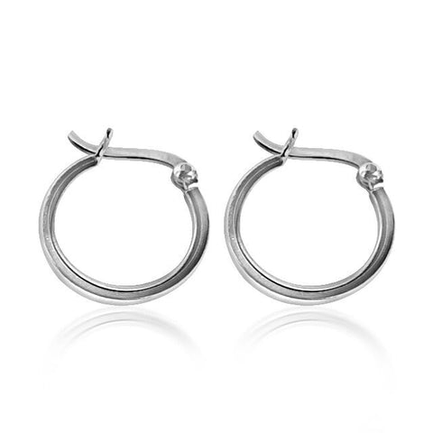 Small hoop sleeper earrings