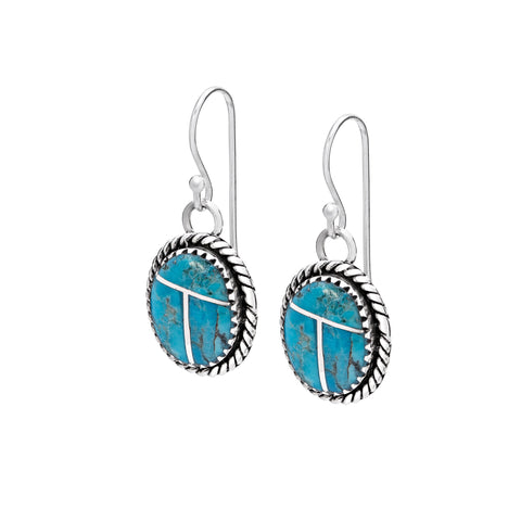 Turquoise & sterling silver raindrop earrings