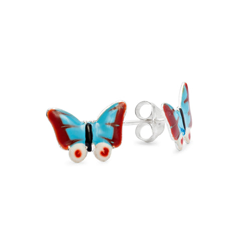 Pretty blue butterfly earrings