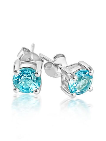 Gorgeous blue topaz stud earrings