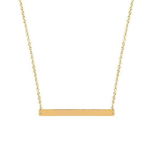 14 carat gold filled bar necklace